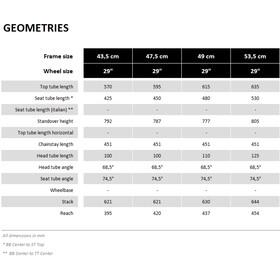 VOTEC VX Frame Kit Tour Fully 29 dark grey glossy/black matte